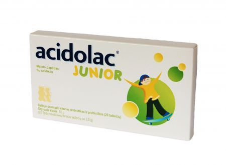 Acidolac Junior 20 misiotabletek a 2,8g
