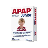 Apap Junior 250mg 10 sasz