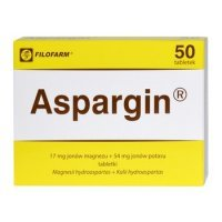 Aspargin 17mg+54mg 50 tabl