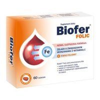 Biofer Folic; 60 tabletek