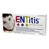ENTitis sm.truskawkowy 30 past.d/ss