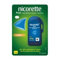 Nicorette Fruit tabletki do ssania 4mg 20 tabletek