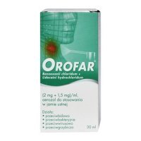 Orofar 2 mg + 1,5 mg/1 ml 30 ml