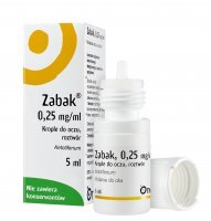 Zabak krople do oczu 0,25mg/1ml 5ml